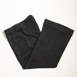 CAbi | Charcoal Grey Herringbone Modern Trouser